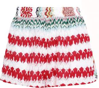 Missoni Mare Mare Striped Crochet-knit Shorts