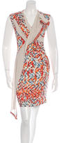 Peter Pilotto Abstract Print Silk Dress w/ Tags
