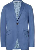 Etro - Blue Slim-fit Stretch-cotton Suit Jacket
