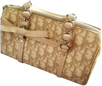 Christian Dior Pink Cloth Handbags