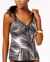 Swim Solutions Swaying Palms Underwire Tankini Top, Created for Macy's Women's Swimsuit