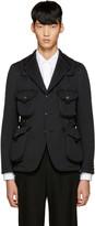 Junya Watanabe Black Bonded Jersey Blazer