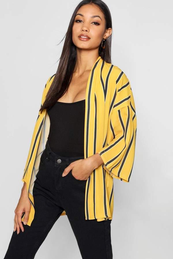 boohoo Stripe Oversized Kimono