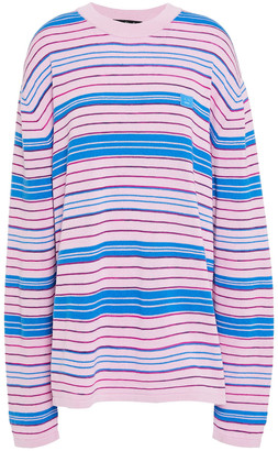 Acne Studios Striped Cotton-blend Sweater