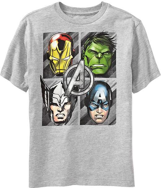 Old Navy Boys Marvel Comics The Avengers Tees