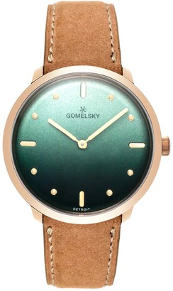 Gomelsky By Shinola Women's Audrey Leather Strap Watch, 36mm