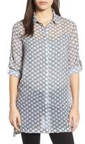 Kenneth Cole New York Button Tab Tunic Shirt