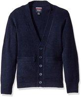 French Toast Big Boys V-Neck Cardigan Sweater