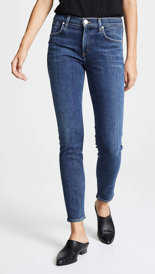 Gold Sign The Profit Ankle Skinny Jeans