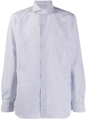 Xacus striped French collar shirt