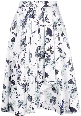 Jason Wu Collection Floral Print Skirt