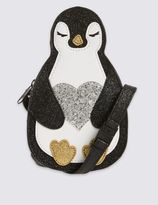 Marks and Spencer Kids' Faux Leather Penguin Cross Body Bag