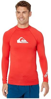 Quiksilver All Time Long Sleeve Rashguard (High Risk Red) Men's Swimwear