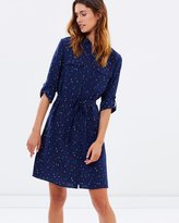 Racing Comets Spot Silk Shirt-Dress