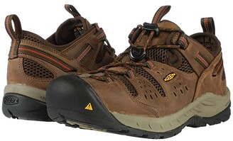 Keen Atlanta Cool II (Steel Toe) (Shitake/Rust) Men's Work Boots