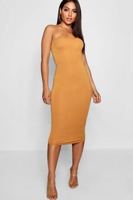 boohoo Bandeau Bodycon Midi Dress