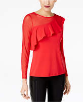 Thalia Sodi Asymmetrical Illusion Ruffled Top, Created for Macy's