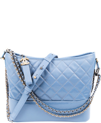 Chanel Blue Quilted Leather Medium Gabrielle Hobo Bag