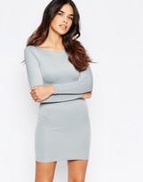 Oh My Love Long Sleeve Scuba Mini Dress