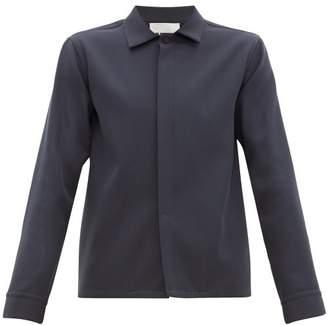 Jil Sander Wool-twill Shirt - Mens - Navy