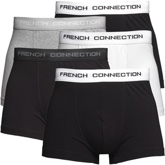 French Connection Mens Five Pack Boxers Black