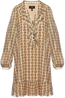 Nissa Ruffle Applique Viscose Dress