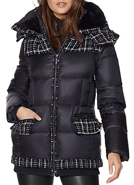 Dawn Levy Melrose Mixed Media Puffer Coat