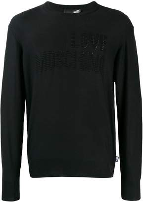 Love Moschino raised logo jumper