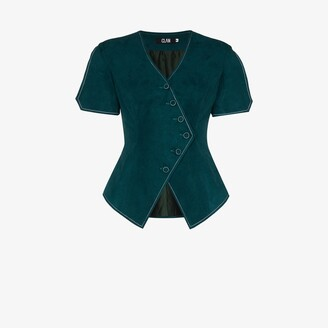 Clan X Homecoming asymmetric short sleeve waistcoat