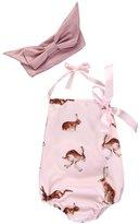 Ma&Baby Newborn Toddler Baby Girl Clothes Rabbit Romper Bodysuit Set+Headband (0-3 Months, )