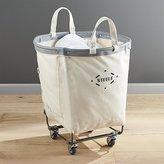 Crate & Barrel Steele Round Canvas Basket