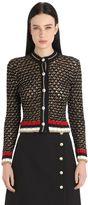 Gucci Heavy Cotton & Lurex Blend Cardigan