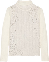 3.1 Phillip Lim Open-knit wool-blend turtleneck sweater