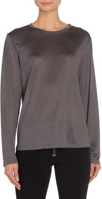 Tom Ford Silk Wool Jersey Long-Sleeve T-Shirt