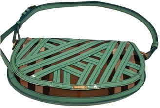 Burberry Turquoise Patent leather Clutch bags