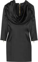 Balmain Draped silk-satin dress