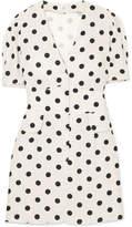 RIXO London - Laura Polka-dot Crepe Mini Dress - White