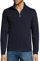 Perry Ellis Textured Zip Front Jacket