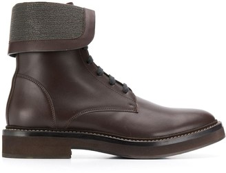 Brunello Cucinelli Foldover Ankle Boots