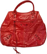 Balenciaga VAlo Red Patent leather Handbags