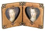Jay Strongwater Double Heart Picture Frame