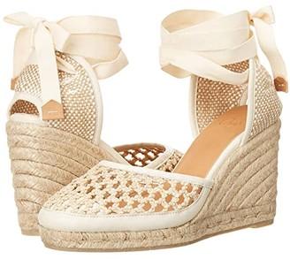 Castaner Carola 80 Wedge Espadrille (Natural) Women's Shoes