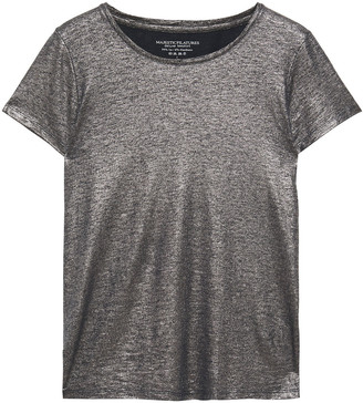 Majestic Filatures Metallic Slub Stretch-linen Jersey T-shirt