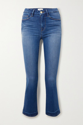 Frame Le Crop Mini Boot High-rise Jeans - Mid denim