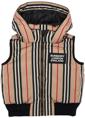 Burberry Icon Stripes Nylon Down Vest