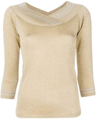 Charlott metallic v-neck pullover