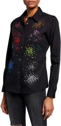 Libertine Mo' Monet Mo' Problems Embellished Button-Down Shirt