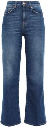 7 For All Mankind Cropped High-rise Bootcut Jeans
