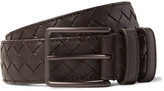 Bottega Veneta 3.5cm Brown Intrecciato Leather Belt