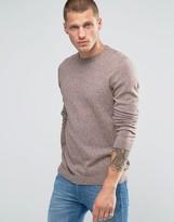 Asos Crew Neck Sweater in Brown Twist